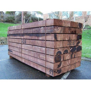 Sleepers - New Brown Treated Softwood Railway Sleepers 200mm x 100mm x 2.4m